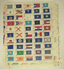 Scott #1633-1682 American Bicentennial State Flags~Full Sheet 1682a~MNH 5 sheets