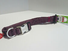 """Kong Reflective Pink Rope Style Dog Collar / XL / Neck Size 24""""-30"""" / NEW"""