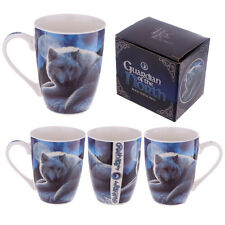 Lisa Parker Wolf The Guardian of the North New Bone China Tea Coffee Mug MULP34