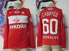 MATCH WORN SPARTAK MOSCOW 2 2013 2014 home shirt Nike Jersey Savichev #60 S