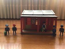 playmobil 4301 estacion roja de tren americana