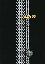 Alfa Romeo 33 Prospekt 1986 864 286 brochure Autoprospekt Auto PKWs Italien Euro