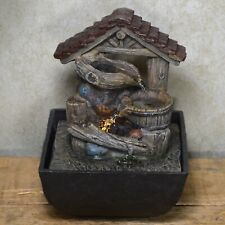 Pots Under Roof Indoor Water Fountain With LED Light Home Decor Gift H17cm 40324