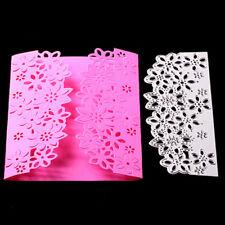 DIY Flower Frame Edge Cutting Dies Stencil Scrapbooking Craft Paper Card Decor Z