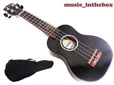 Woodnote Beautiful 21' Special Black Color Soprano Ukulele & Ukulele Bag