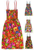 Girls Bright Floral Print Summer Maxi Dress Kids Dresses New 2-3 3-4 4-5 Years