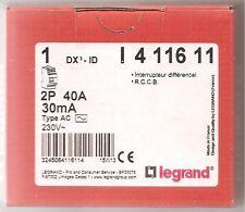 Interrupteur différentiel 40A Type AC 30mA 230V Vis/vis  Legrand