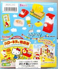 Sanrio Miniatures Hello Kitty shopping street Complete Box Set - Re-ment  #4ok