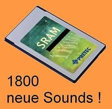 PCMCIA SRAM card con 8 Expando banks para Alesis QS-serie, 1800 New sonidos look @