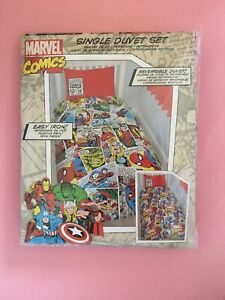 New Marvel Comics Single Bedding