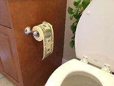1 Roll $100 Hundred US Dollar Bill Toilet Paper Tissue Prank Novelty Gift Idea