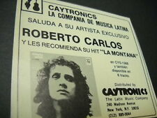ROBERTO CARLOS seldom seen Original vintage music biz promo trade advert