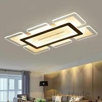 Modern Rectangular Acrylic LED Ceiling Light Living Room Bedroom Square Lighting