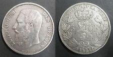 BELGIQUE - 5 FRANCS - 1873 - LEOPOLD II - Argent - 03