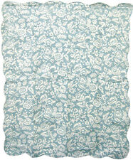 Quilted Throw Mimosa Blue