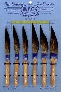 Mack Sword Striper Series 10 Blue Squirrel Hair Pinstriping Brushes Choose Sizes