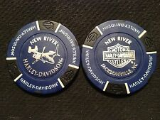 Harley Poker Chip (Blue & Black) New River V-22 Osprey Jacksonville, N.C.