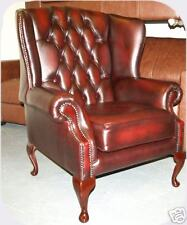 Chesterfield leather Georgian chair B/NEW 3 colours