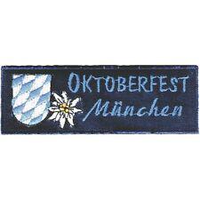 Aufnaeher Applikation Stickemblem Patch 11 x 4 cm Oktoberfest Muenchen 00888