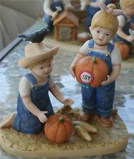 Denim Days Bisque Homco Figure Prize Pumpkin Halloween