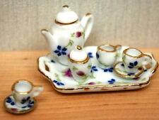 Tea Set Floral Design  Dolls House Miniatures dining