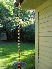 Rain Chain Copper 8 8.5 Feet Gutter Decorative Chains Cup New Rainchain Ft