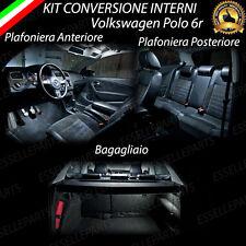 KIT LED INTERNI VW POLO 5 6R PLAFONIERA ANTERIORE.+ POSTERIORE +BAGAGLIAIO 6000K