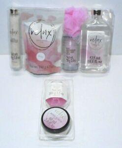Rose Fragrance Bath Set Bath Salts Milk Bath Soap Body Scrub Shower Gel Pouf