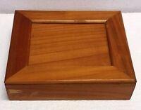 Scatola in legno c/coperchio (senza cerniera) - porta oggetti - cm. 18x16x4,5