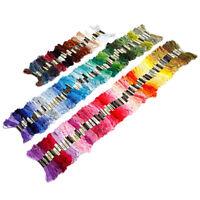 150 echevettes de fil multicolore pour point de croix broderie A9P4