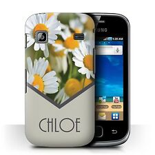 Personalised Custom Floral Case Samsung Galaxy Gio/S5660/Daisy/Mint Green/Cover