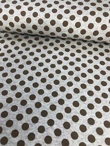 Sommersweat Punkte Dots 7mm beige meliert/braun Sweat French Terry