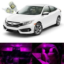 8 x Pink LED Lights Interior Package Kit Deal Best For CIVIC 2013 - 2021
