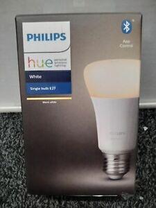 Philips Hue White E27 LED Lampe Einzelpack, dimmbar, warmweißes Licht, steuerbar