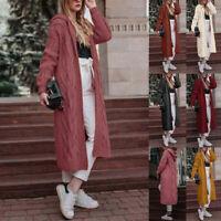 Women's Winter Long Sweater Coat Chunky Knitted Loose Oversized Outwear Cardigan