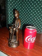 "Coal Miner Figure Bronze 8.5"" Tall Free Shipping"