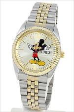 Disney Mickey Mouse Men's Gold & Silver Bracelet Watch MCK339