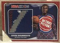 2019-20 NBA Hoops Winter Holiday Sekou Doumbouya Rookie Sweater Relic Pistons