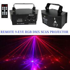 Laser LED Light Remote 9-EYE RGB DMX Scan Projector Strobe DJ Party Stage Lights