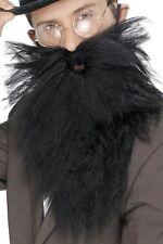 Victorian Jew Long Beard And Tash - Black