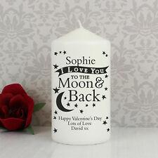 I Love you to the Moon & Indietro CANDELA-regalo personalizzato per la sua, SAN VALENTINO