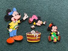 Vintage Walt Disney Pressed Cardboard Wall Hangings Mickey Mouse