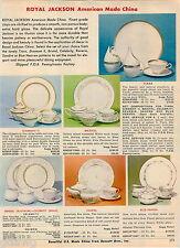 1968 ADVERT Royal Jackson American Made China Tiara Diamant II Metasco Stone