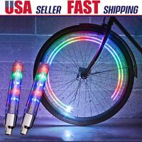 Valve Stem LED CAP Flashing Light fr Bike Bicycle Car Motorcycle Wheel Tire Lamp