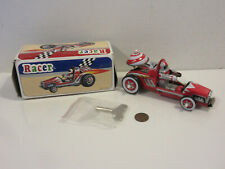 New listing TIN CAR RACER MS 269 WIND UP REPRODUCTION NEW BOXED COMPLETE KEY BELL METAL