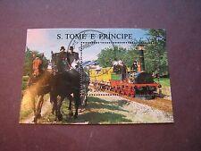St. thomas & Prince Island Scott# 1286 Train Souvenir Sheet 1996 P1