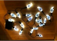 Halloween Indoor Ghost String Lights 7.2ft 20 LED White Ghost