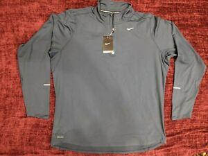 Nike Long Sleeve Blue Running Shirt, 1/4 zip - Men's X-Large (XL)