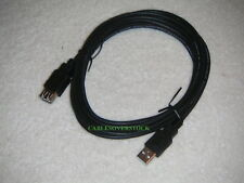 10 ft USB 2.0 Extension Cable A-Male to A-Female Black Brand New Never Used Wow