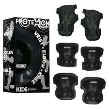 Crazy Skates Black Safety Pads Boys Girls Protective Knee Wrist Elbow Guards